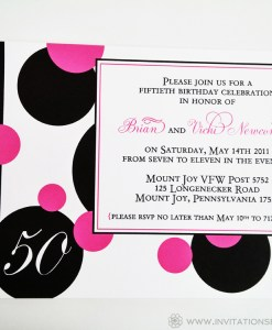 Pink Circle Invite