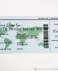 Cruise Ticket Invite