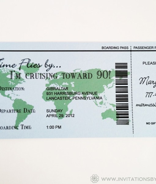 Cruise Ticket Invite