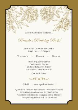 Brenda Birthday Invitation