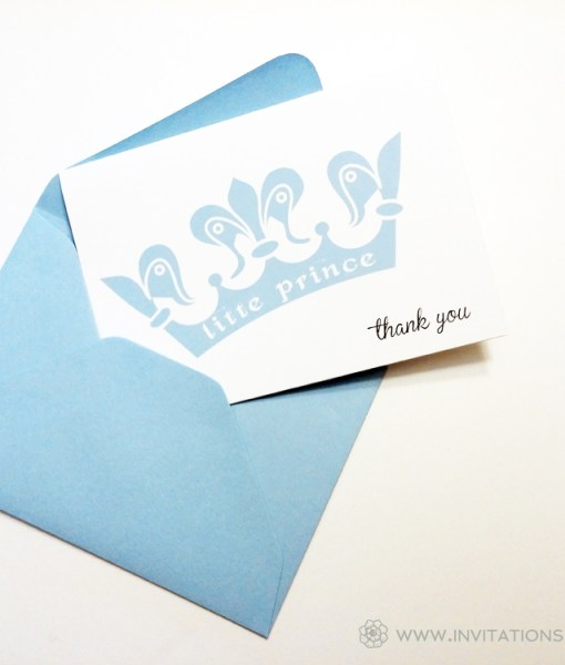 Blue Thank You Card | crown