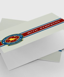 sympathy greeting card with fire department logo