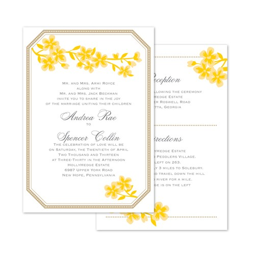 Yellow And Grey Wedding Color Palettes