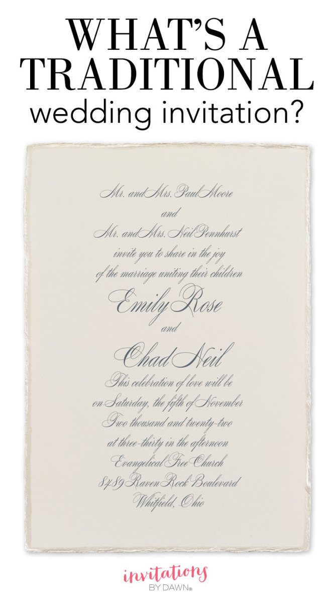 What S A Traditional Wedding Invitation