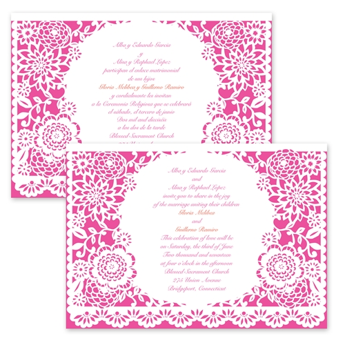 36 Adorable Wedding Invitation Wording Both Pas In Spanish