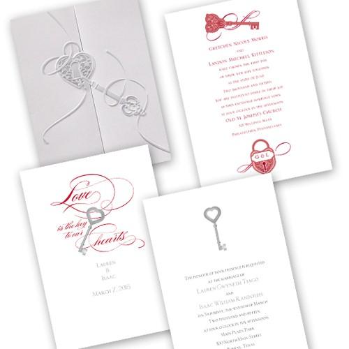 Ling Hearts Range Wedding Invitations