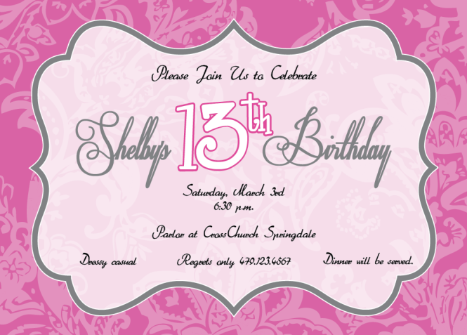 Birthday Party Invitations For 12 Year Olds Gallery Invitation – Invitation Bday Party