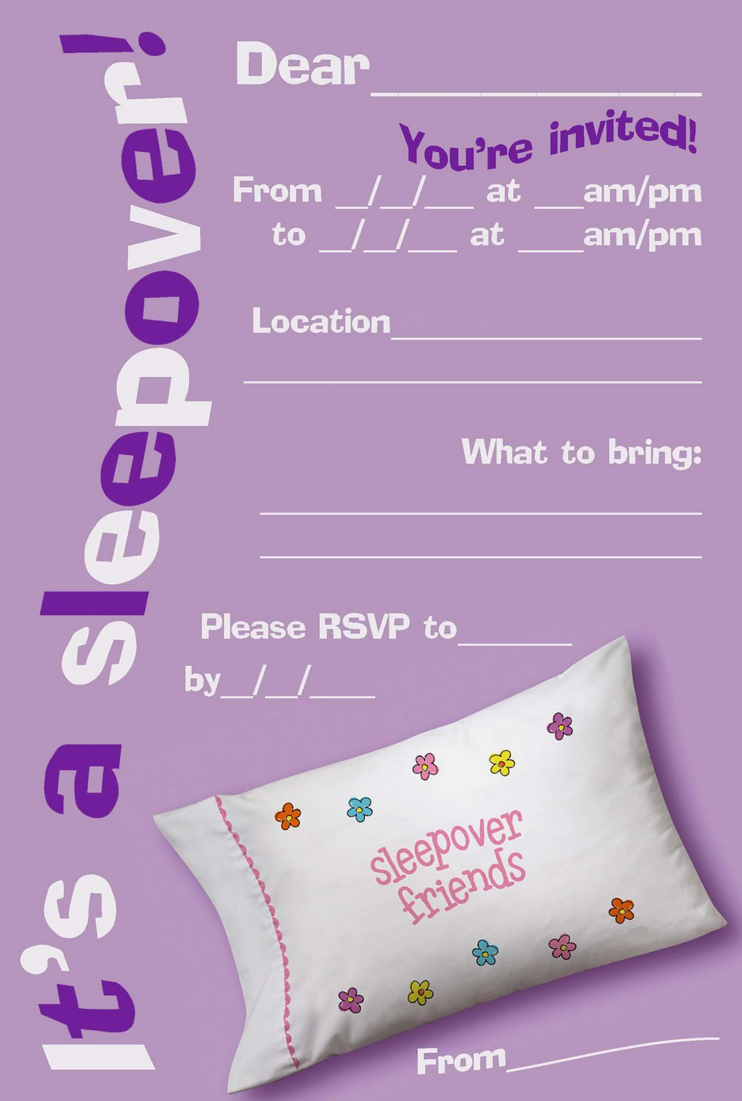 Printable Easter Invitations