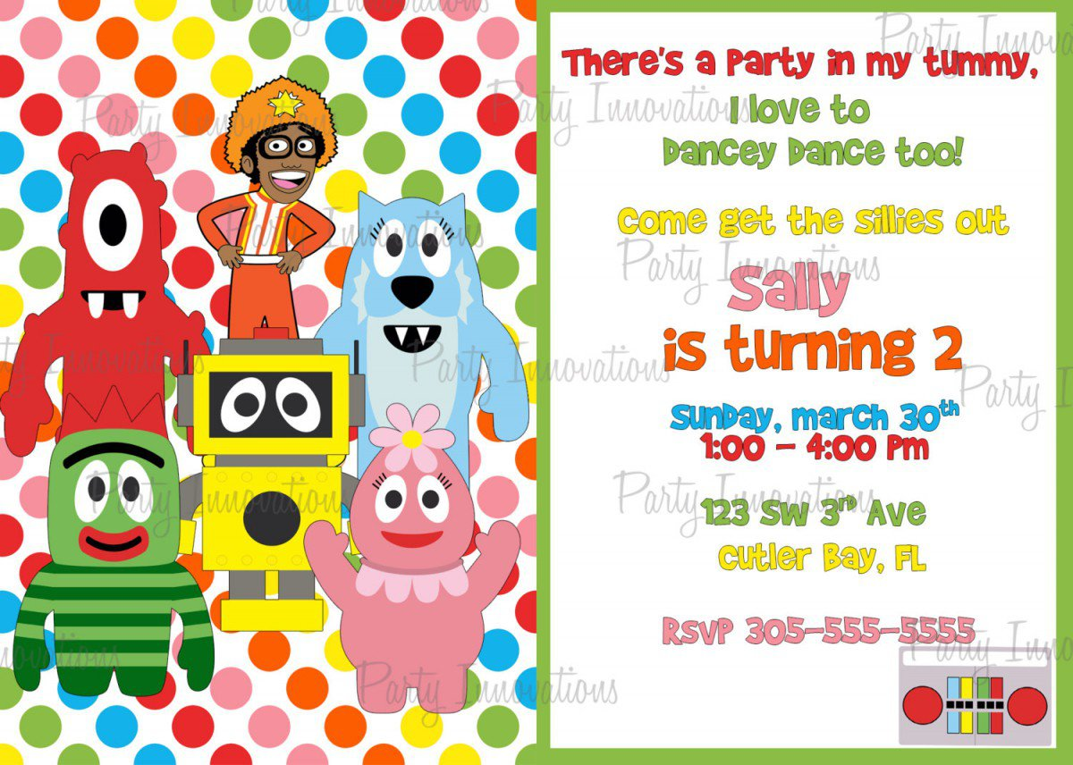 Yo Gabba Gabba Printable Invitations Free
