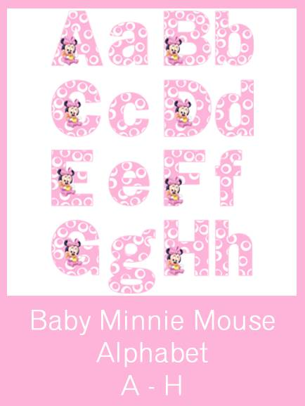 Minnie Mouse Templates Letters