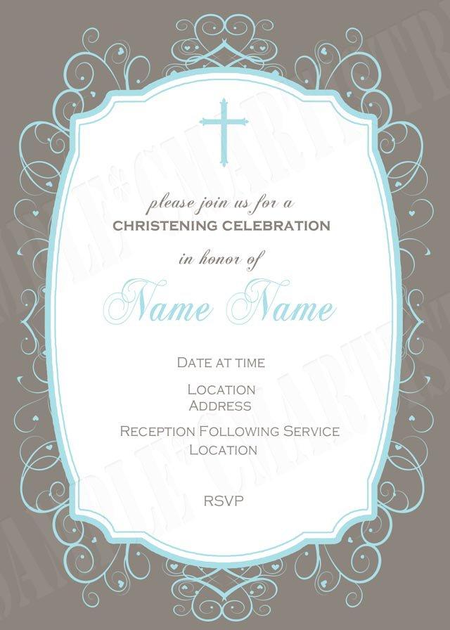 Printable Unveiling Invitations