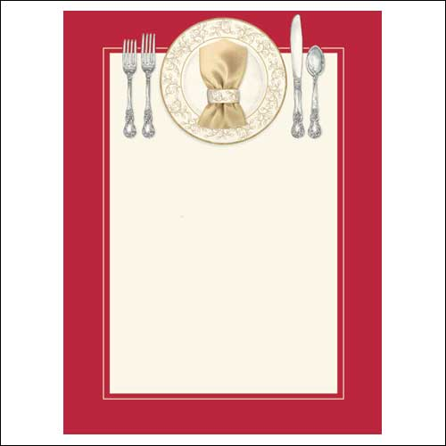 Blank Dinner Invitation Word