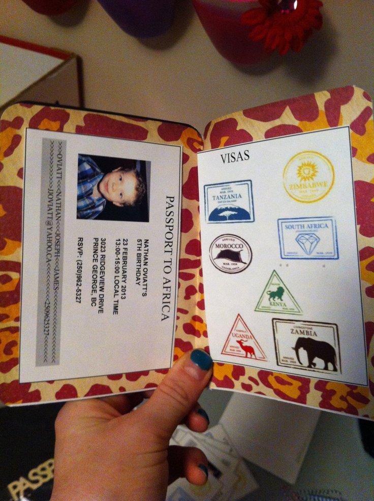 Passport Invitation Ideas