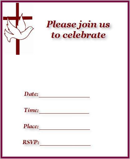 Church Invitation Cards Printable
