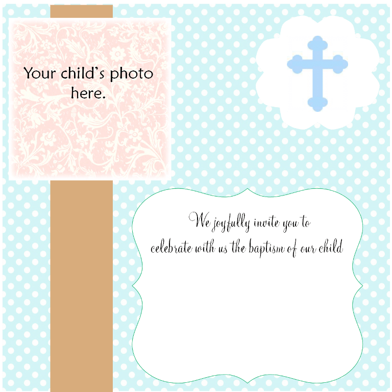 Invitation Card Maker Christening