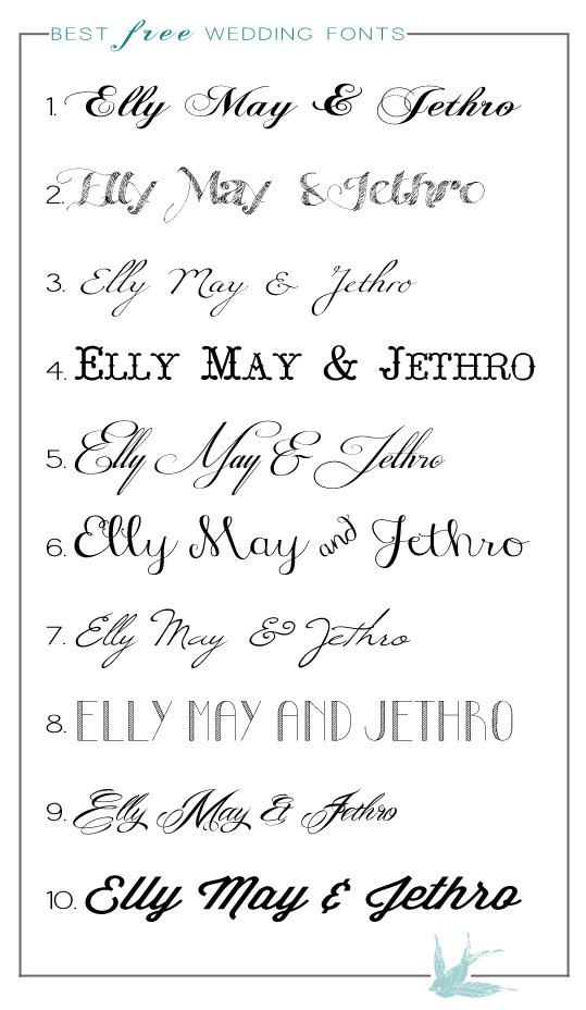 Font Types For Wedding Invitations 545 X 757