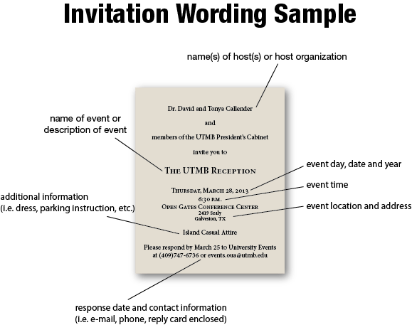 Corporate Event Invitation Wording Samples – Invitation Event Sample
