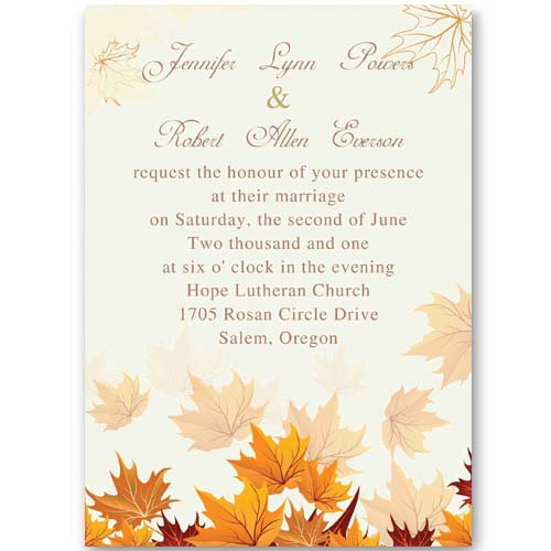 Fall Couples Shower Invitations