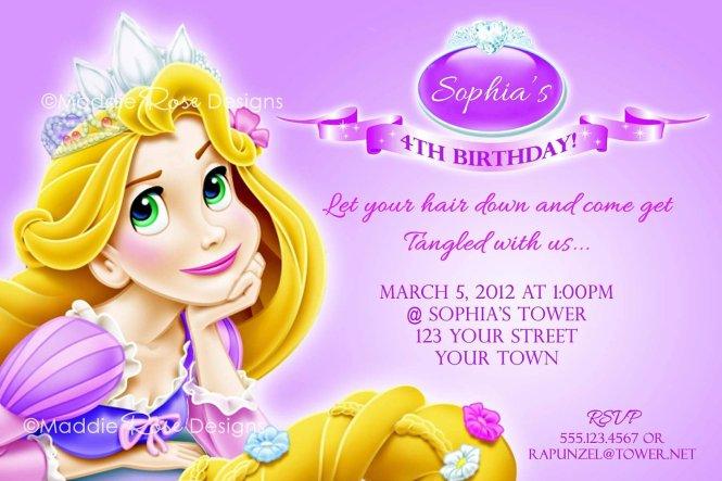 rapunzel party invitations free Cogimbous – Rapunzel Party Invitations