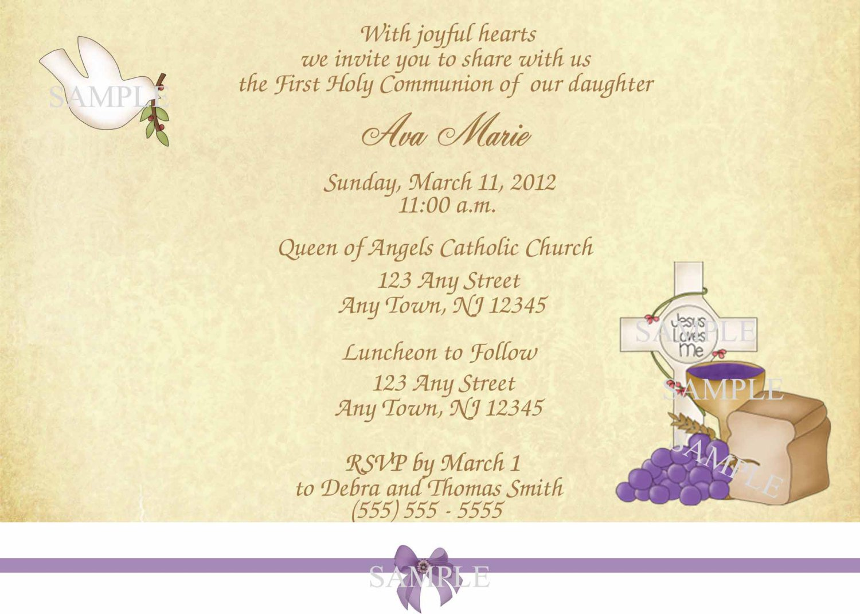 Holy Communion Invitations Printables
