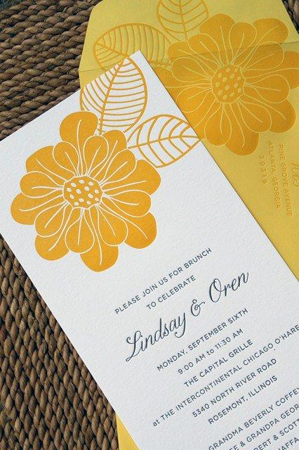 Starfish Blue Wedding Brunch Invitations