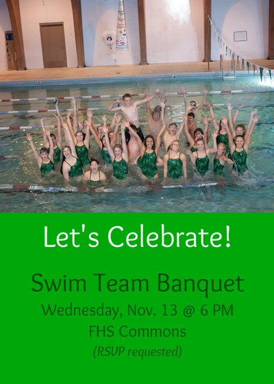 Swim Banquet Invitations