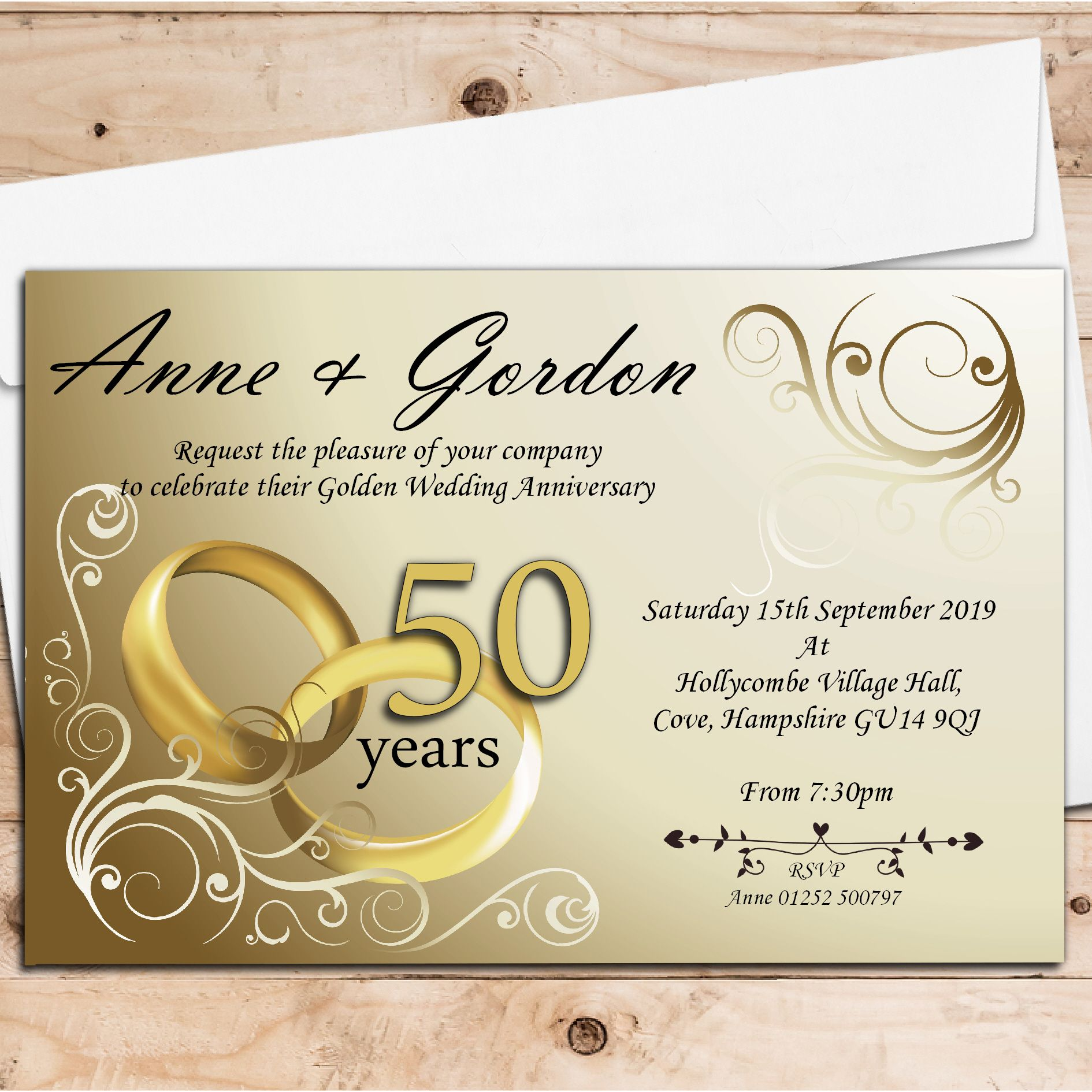50th Wedding Anniversary Picture Frames