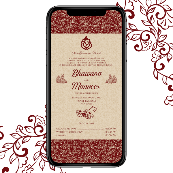 Invites Cafe Hindu Wedding Invitation 002