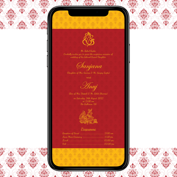 Invites Cafe Hindu Wedding Invitation 006