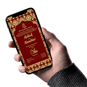 Hindu Wedding Invitation 007