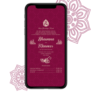 Invites Cafe Hindu Wedding Invitation 009