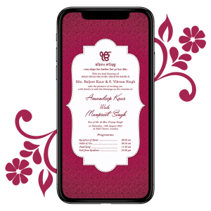 Invites Cafe Sikh Wedding Invitation 004