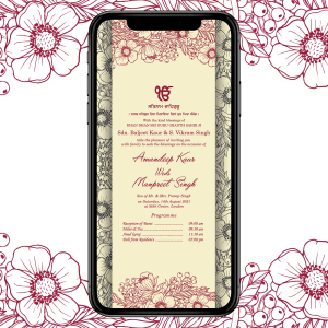 Invites Cafe Sikh Wedding Invitation 005