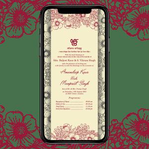 Invites Cafe Sikh Wedding Invitation 005