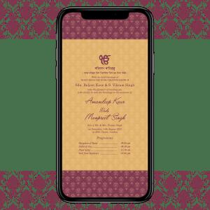 Invites Cafe Sikh Wedding Invitation 006