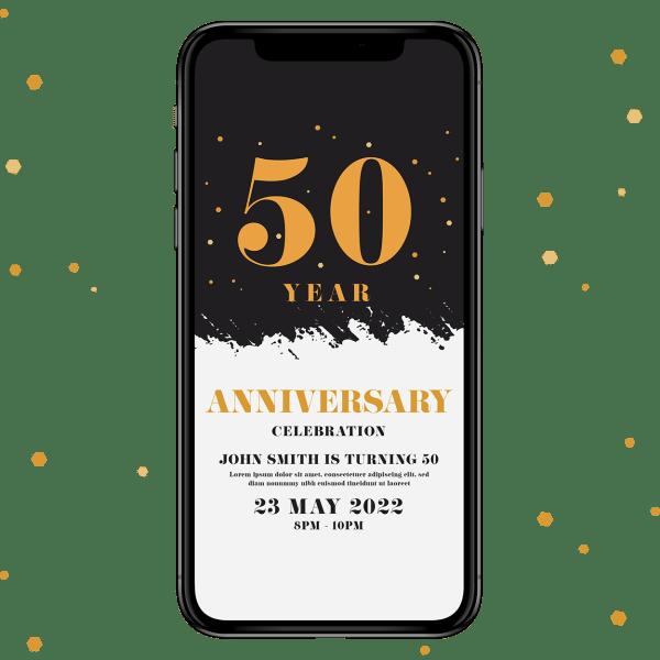 Invites Cafe Anniversary Invitation 003