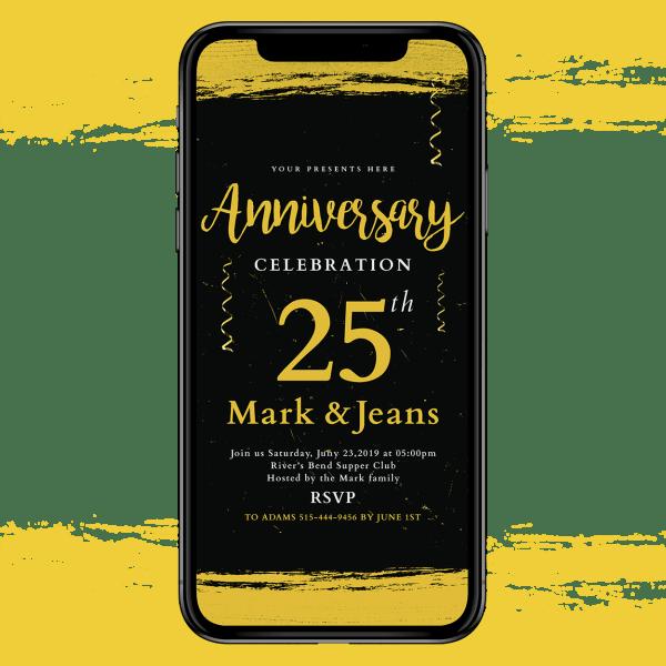 Invites Cafe Anniversary Invitation 004