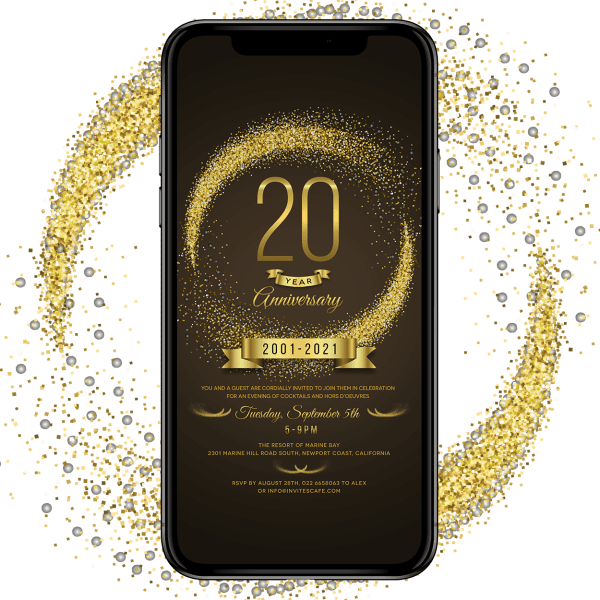 Invites Cafe Anniversary Invitation 005