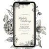 Invites Cafe Anniversary Invitation 006