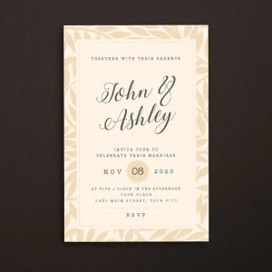 Christian Wedding Invitation Print Ready 002