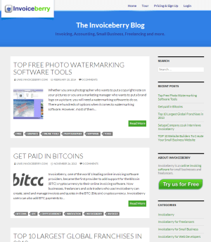Invoiceberry Blog (new version, after relaunch)