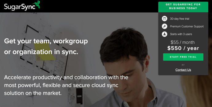 SugarSync for business cloud storage service