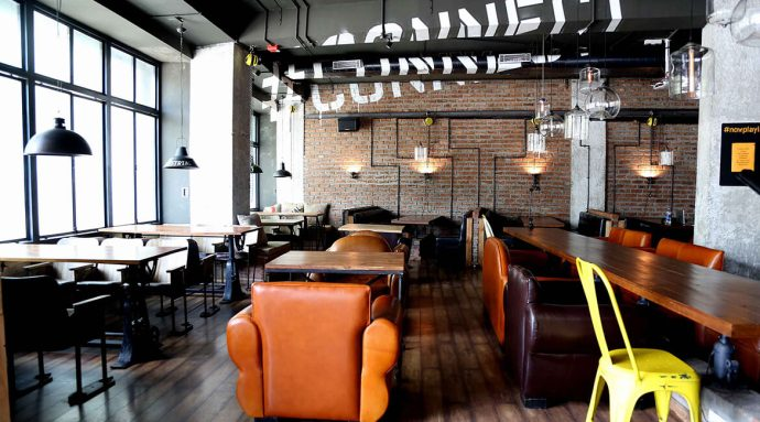 Bangalore's coworking space with a twist--get a drink while you're at work