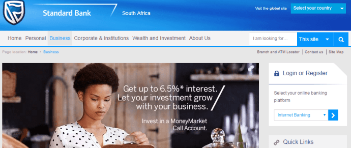 Standard bank may not have the best conditions for small businesses in South Africa