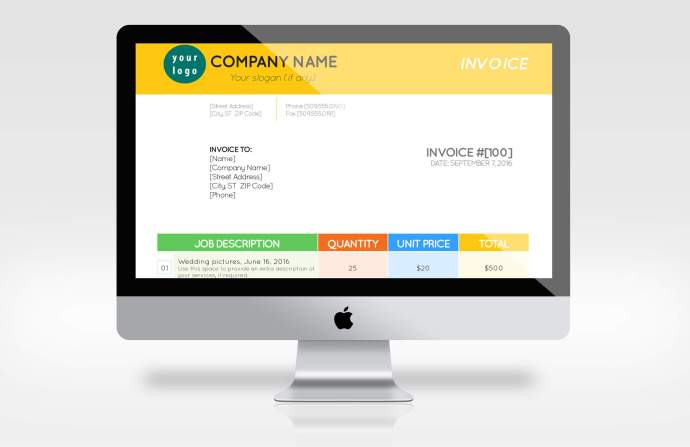 Our great new Color Bars InDesign invoice template is customizable on your laptop or desktop
