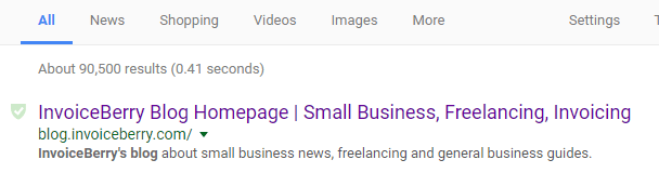 Your title tags will show up in the search results page