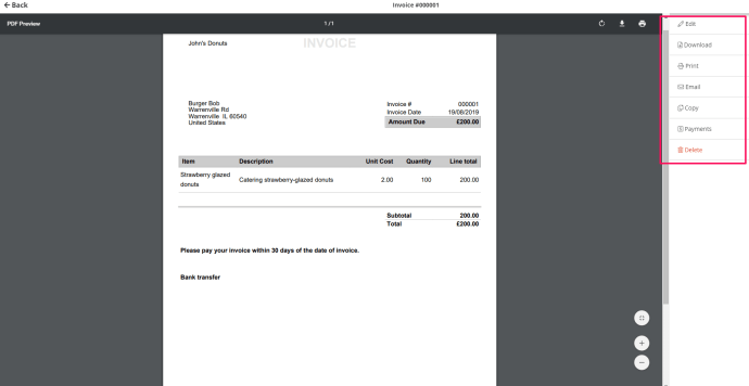 Sending invoices to clients is easy with InvoiceBerry.
