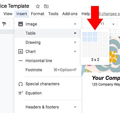table-menu-google-docs-invoice