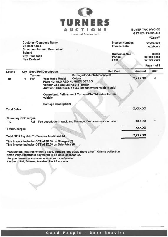 Example Invoice Nz. Invoice Template Nz Example Invoice Template