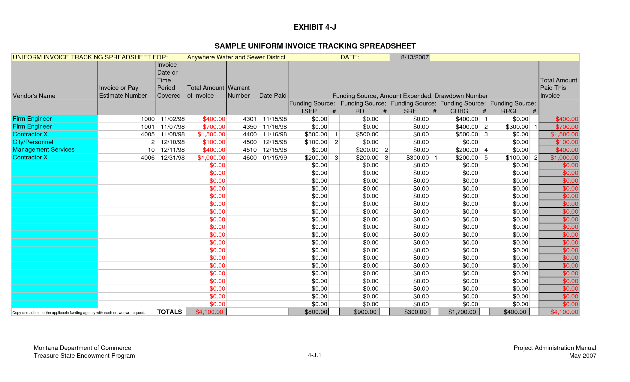 Invoice Tracking Template Excel